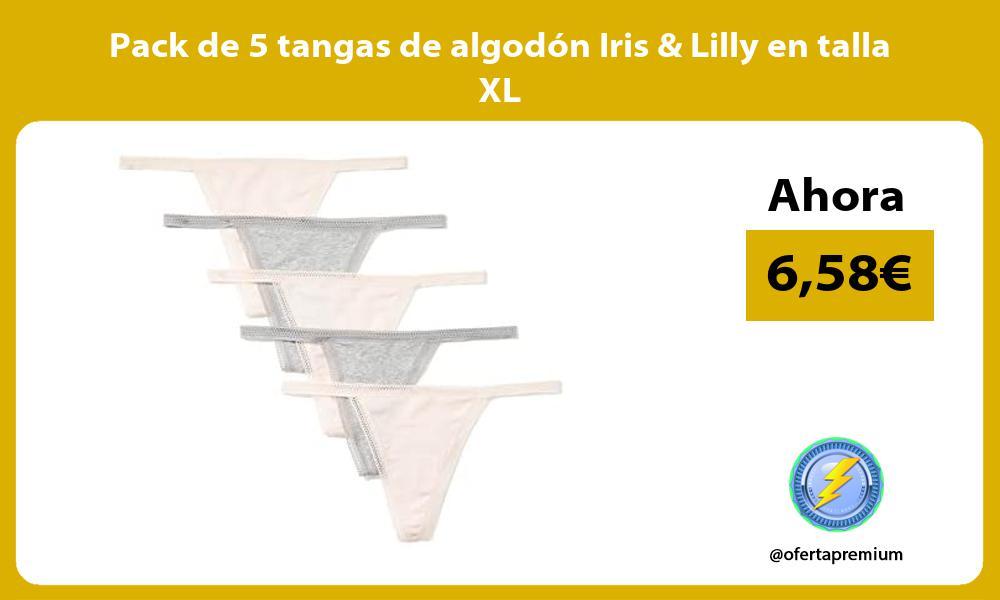 Pack de 5 tangas de algodón Iris Lilly en talla XL