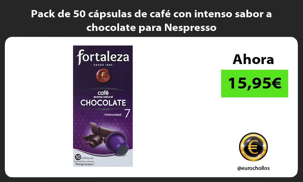 Pack de 50 cápsulas de café con intenso sabor a chocolate para Nespresso