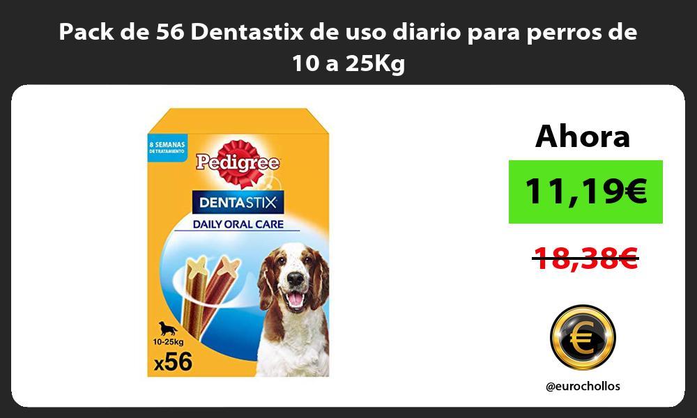 Pack de 56 Dentastix de uso diario para perros de 10 a 25Kg