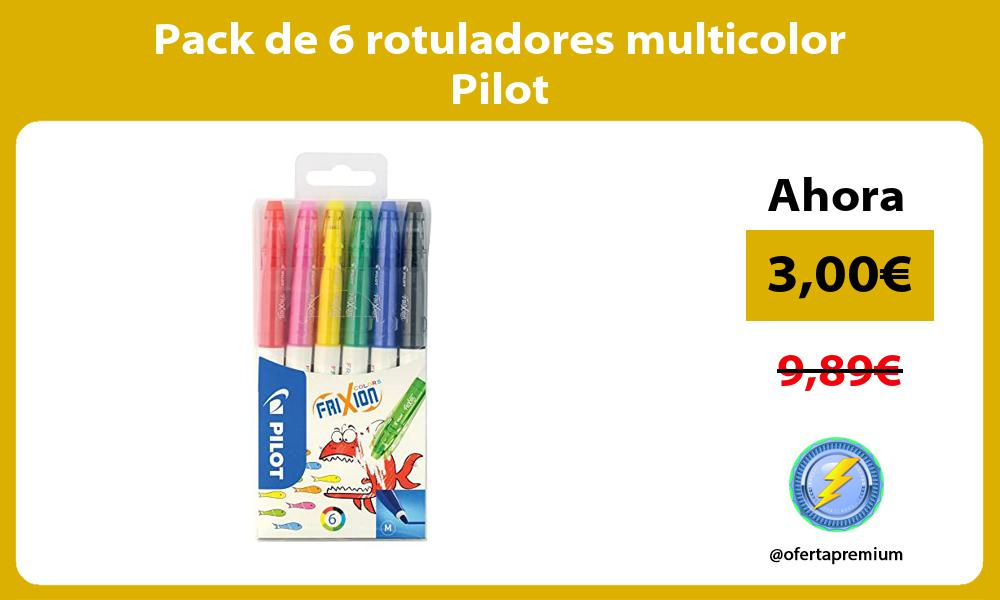 Pack de 6 rotuladores multicolor Pilot