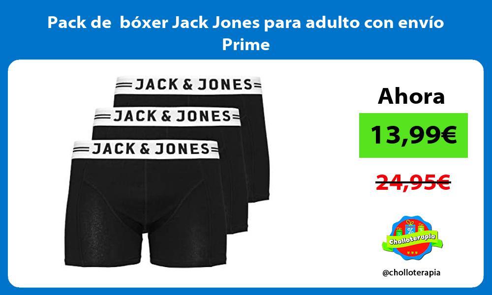 Pack de bóxer Jack Jones para adulto con envío Prime