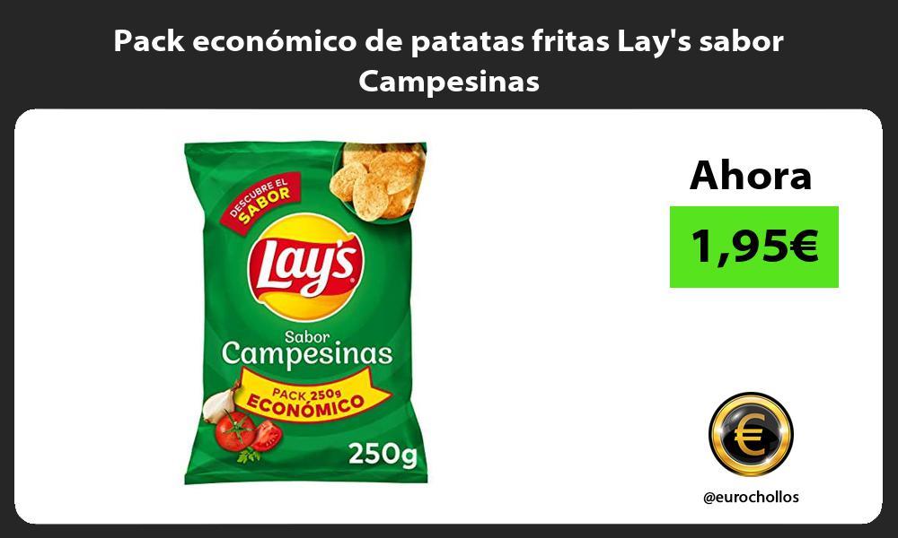 Pack económico de patatas fritas Lays sabor Campesinas