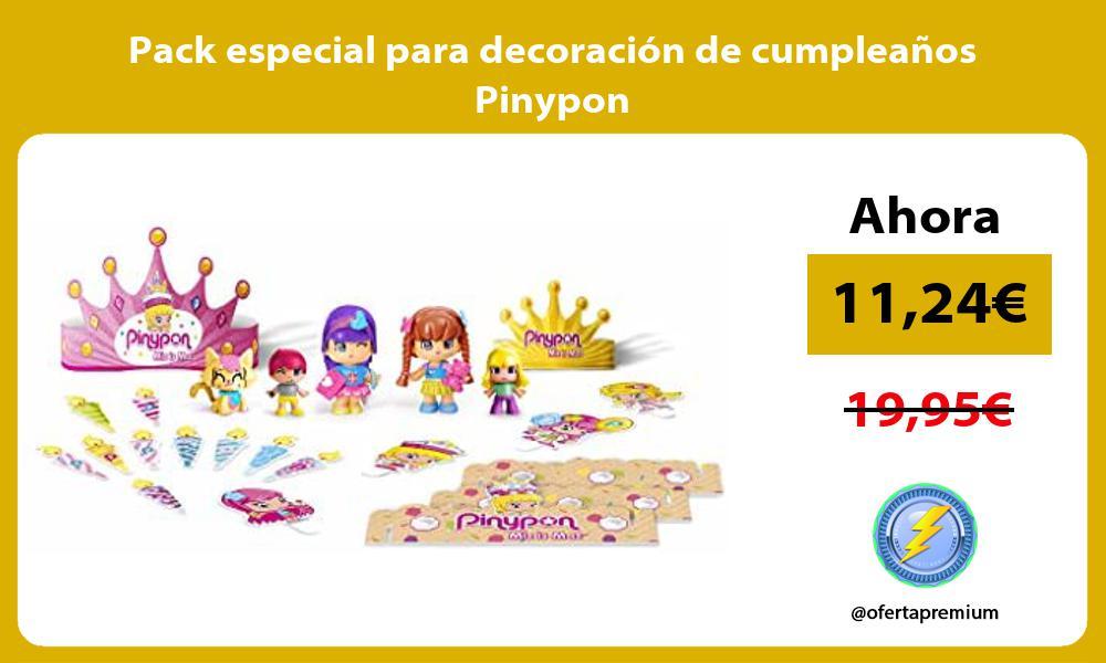 Pack especial para decoración de cumpleaños Pinypon