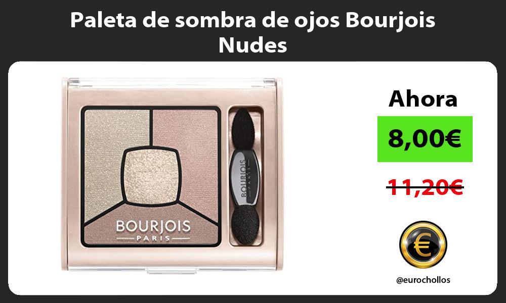 Paleta de sombra de ojos Bourjois Nudes