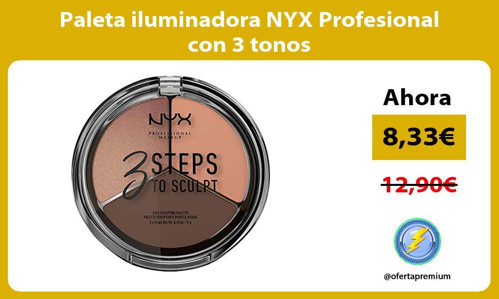 Paleta iluminadora NYX Profesional con 3 tonos