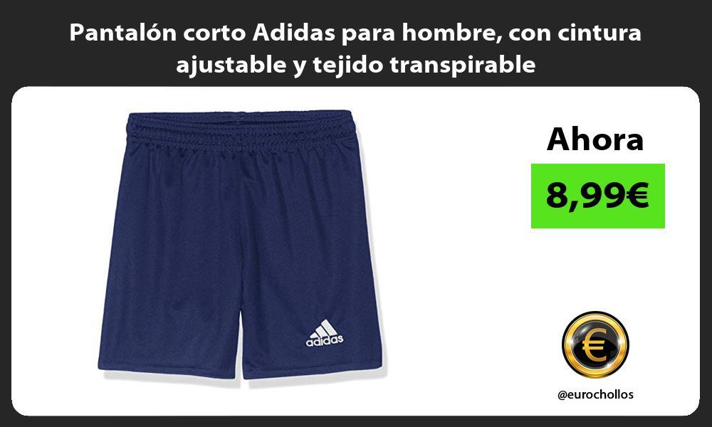 Pantalón corto Adidas para hombre con cintura ajustable y tejido transpirable