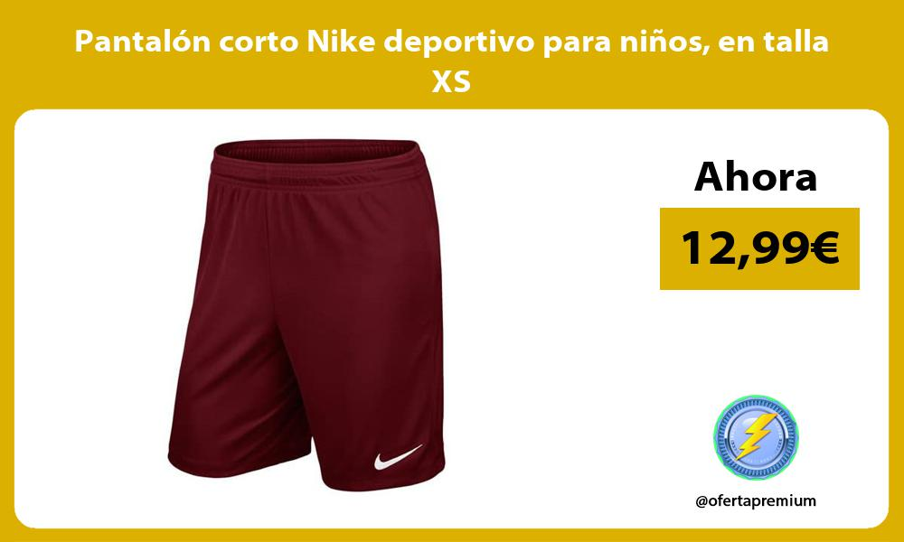 Pantalón corto Nike deportivo para niños en talla XS