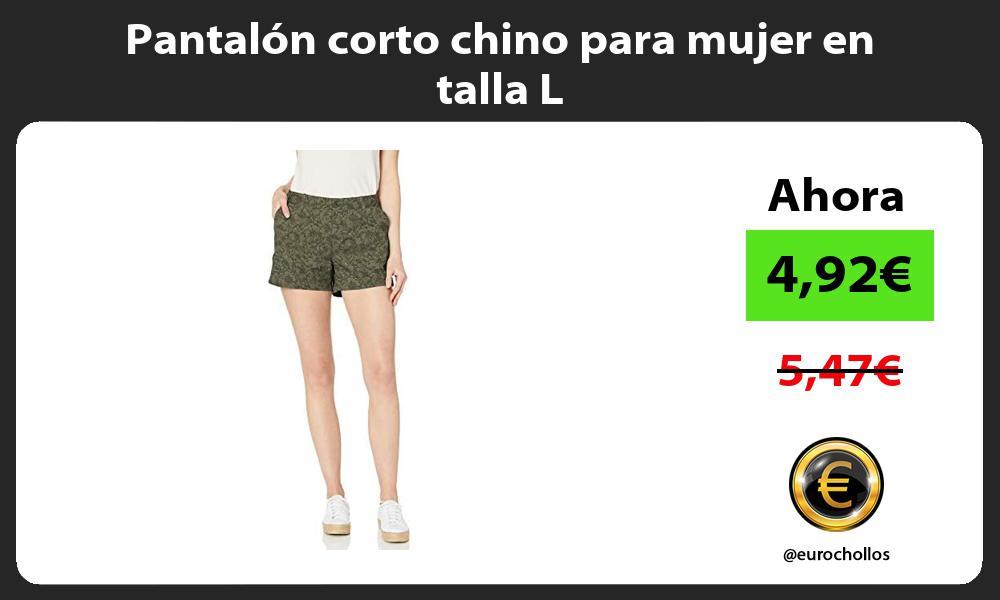 Pantalón corto chino para mujer en talla L