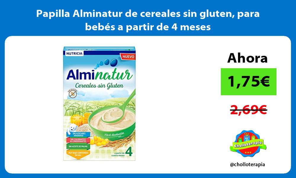 Papilla Alminatur de cereales sin gluten para bebés a partir de 4 meses