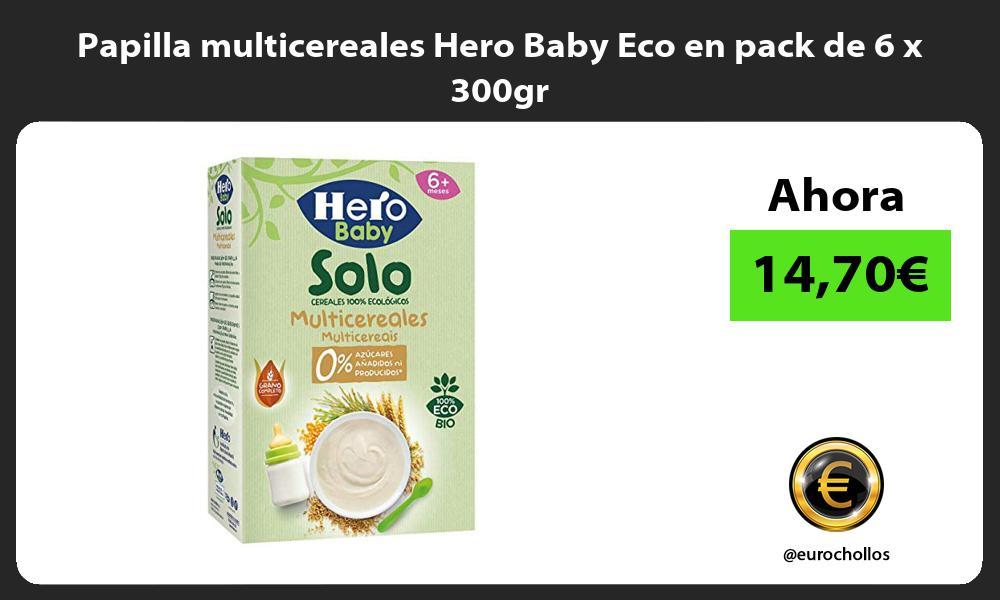 Papilla multicereales Hero Baby Eco en pack de 6 x 300gr
