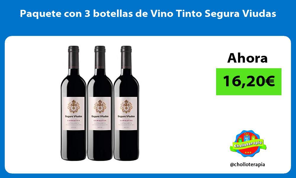 Paquete con 3 botellas de Vino Tinto Segura Viudas