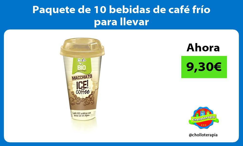 Paquete de 10 bebidas de café frío para llevar