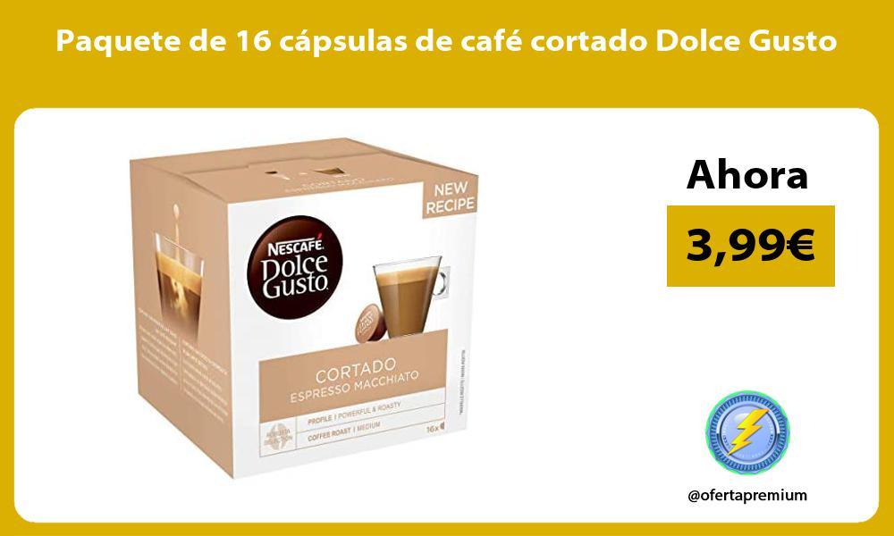 Paquete de 16 cápsulas de café cortado Dolce Gusto
