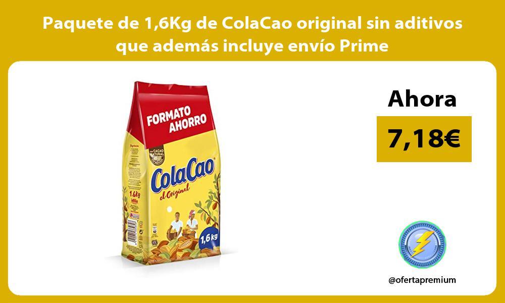 Paquete de 16Kg de ColaCao original sin aditivos que además incluye envío Prime