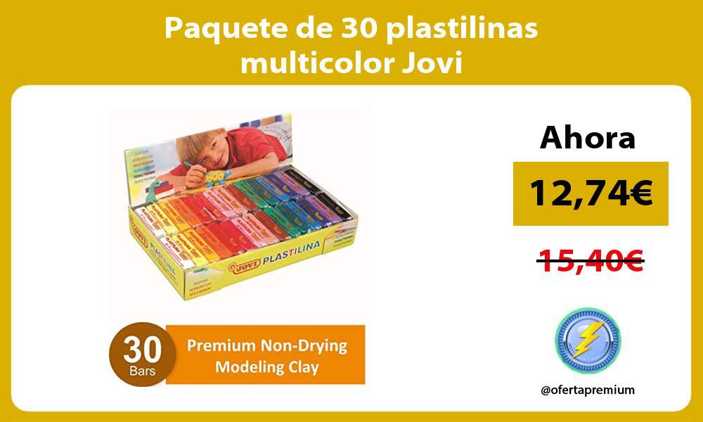 Paquete de 30 plastilinas multicolor Jovi