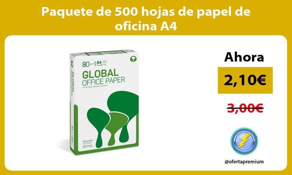 Paquete de 500 hojas de papel de oficina A4