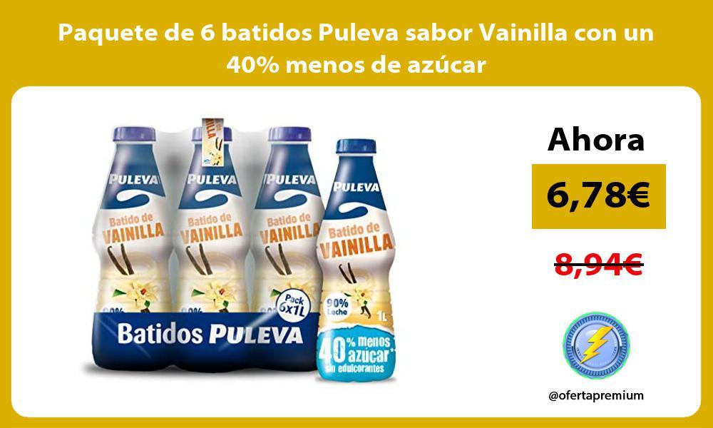 Paquete de 6 batidos Puleva sabor Vainilla con un 40 menos de azúcar