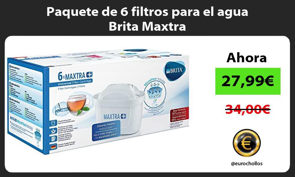 Paquete de 6 filtros para el agua Brita Maxtra