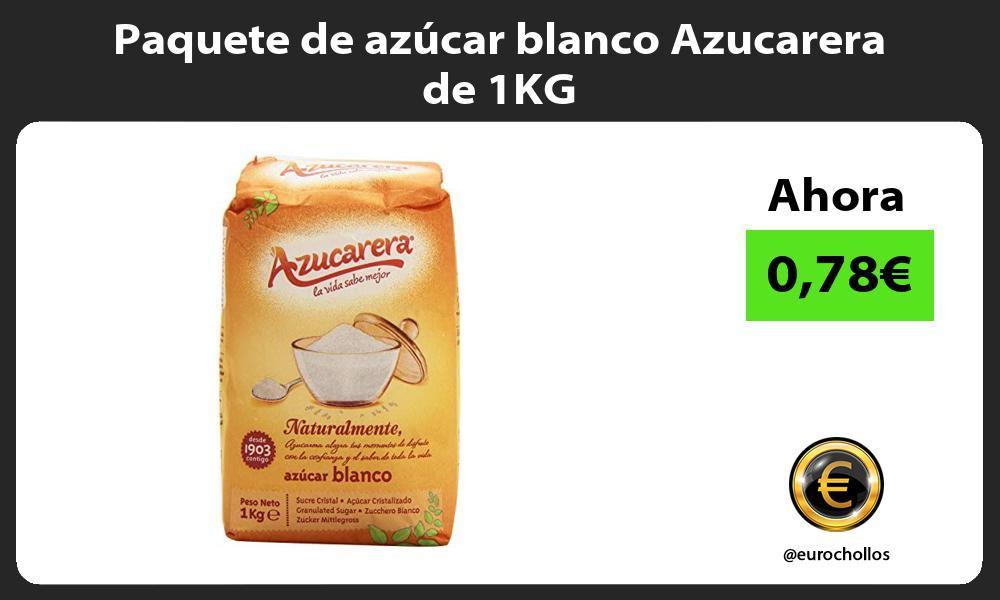 Paquete de azúcar blanco Azucarera de 1KG