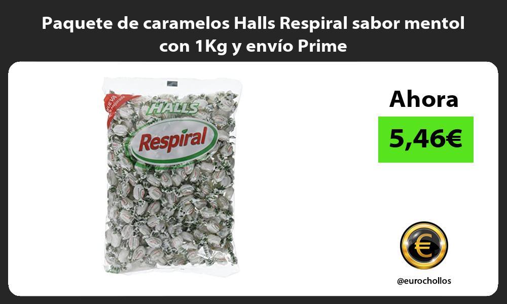 Paquete de caramelos Halls Respiral sabor mentol con 1Kg y envío Prime