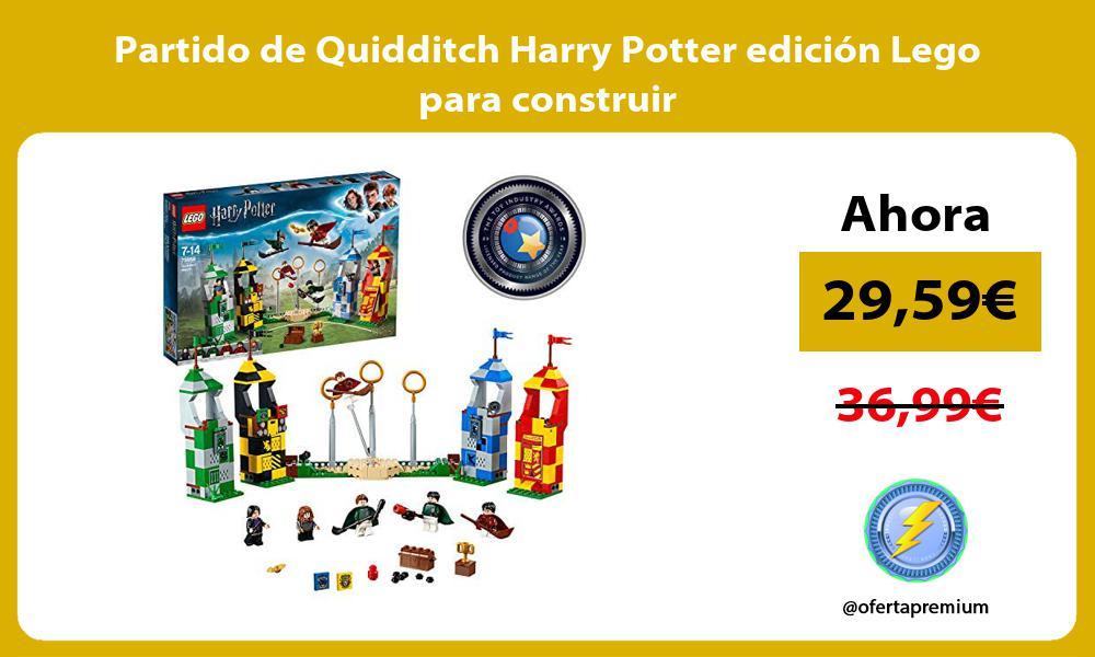Partido de Quidditch Harry Potter edición Lego para construir