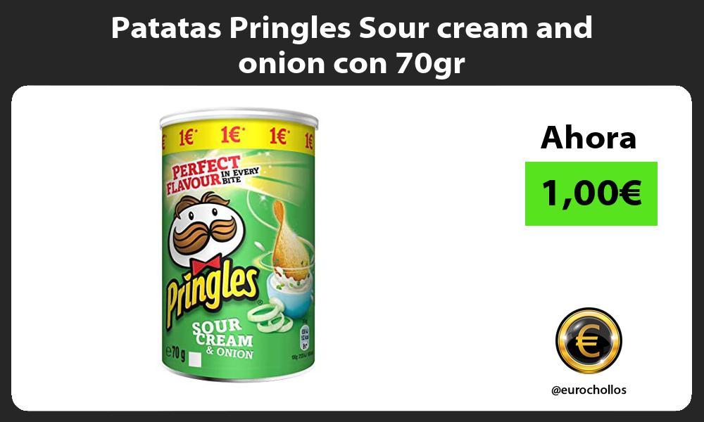 Patatas Pringles Sour cream and onion con 70gr