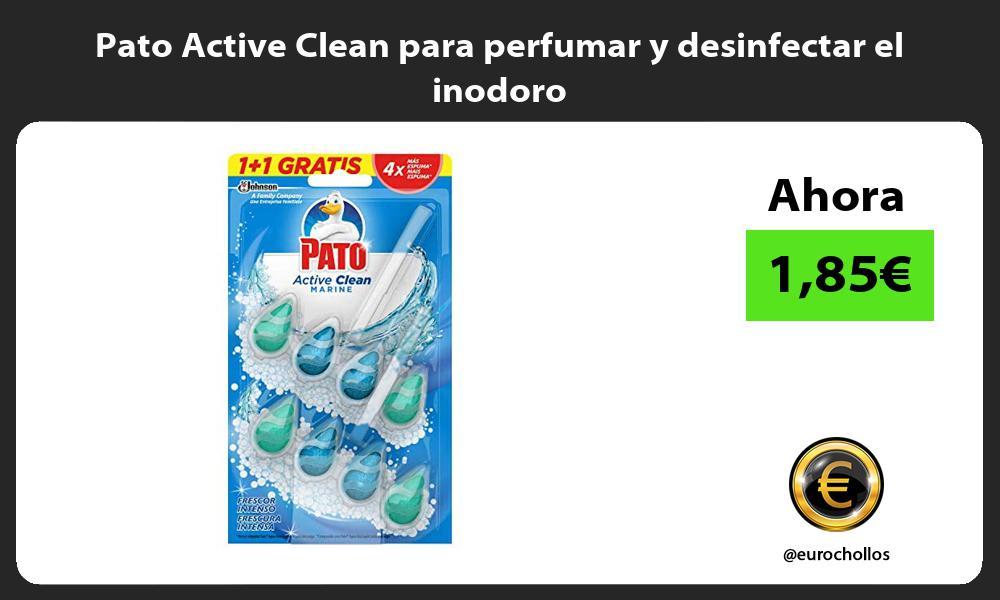 Pato Active Clean para perfumar y desinfectar el inodoro