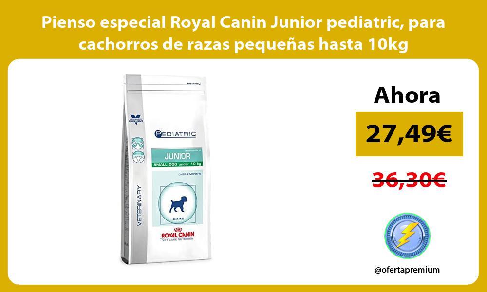Pienso especial Royal Canin Junior pediatric para cachorros de razas pequeñas hasta 10kg