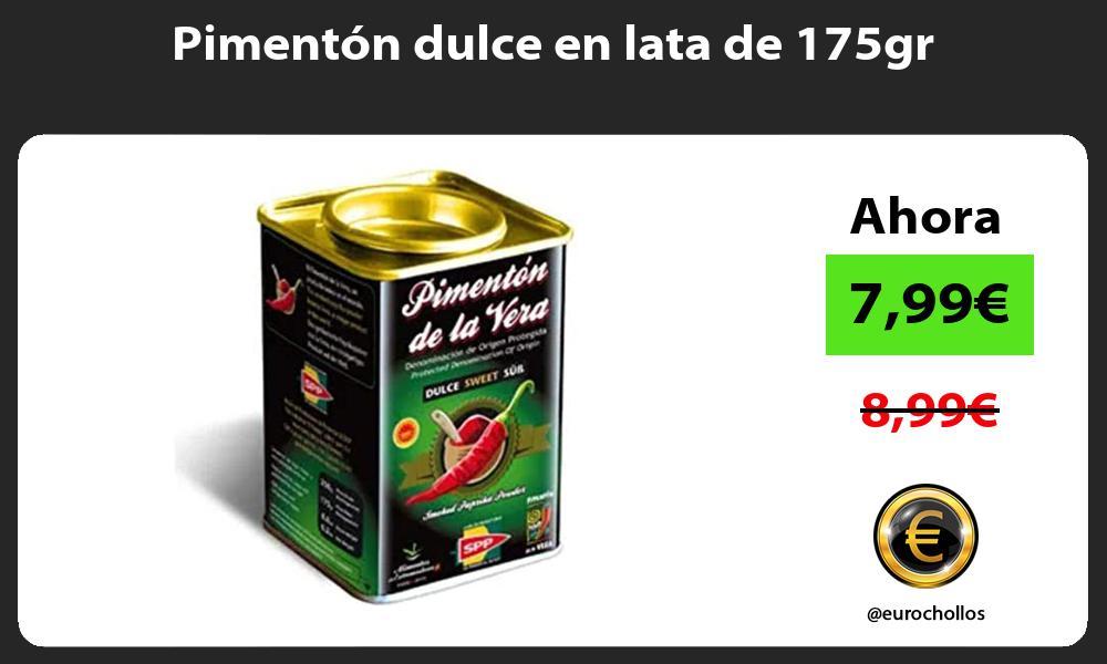 Pimentón dulce en lata de 175gr