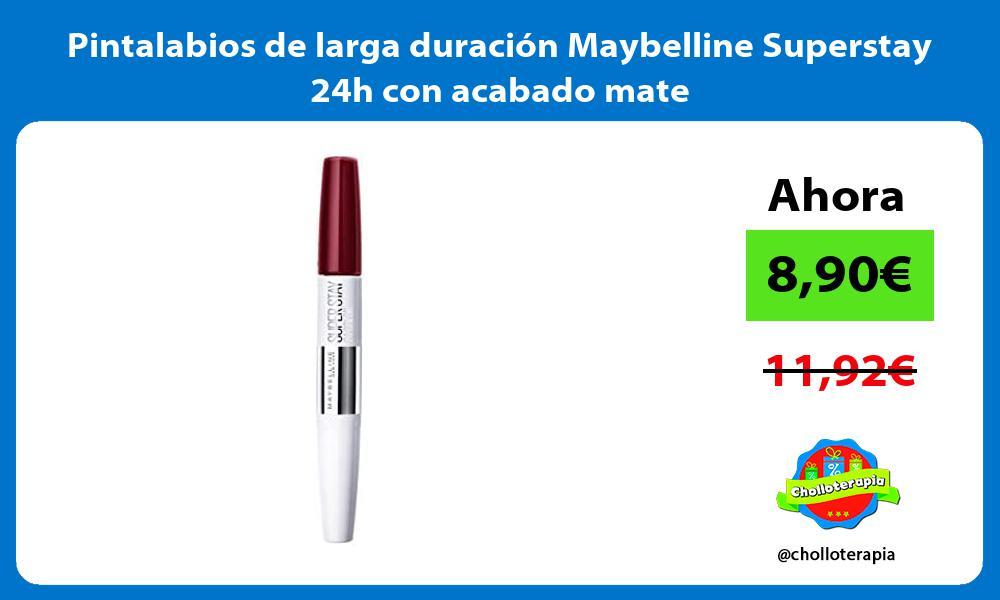 Pintalabios de larga duración Maybelline Superstay 24h con acabado mate