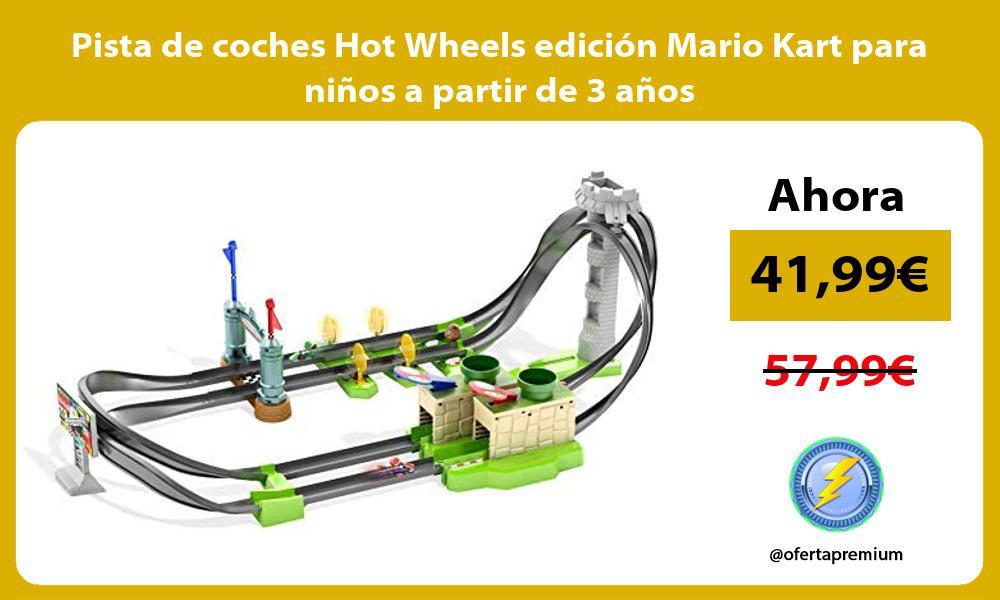 Pista de coches Hot Wheels edición Mario Kart para niños a partir de 3 años