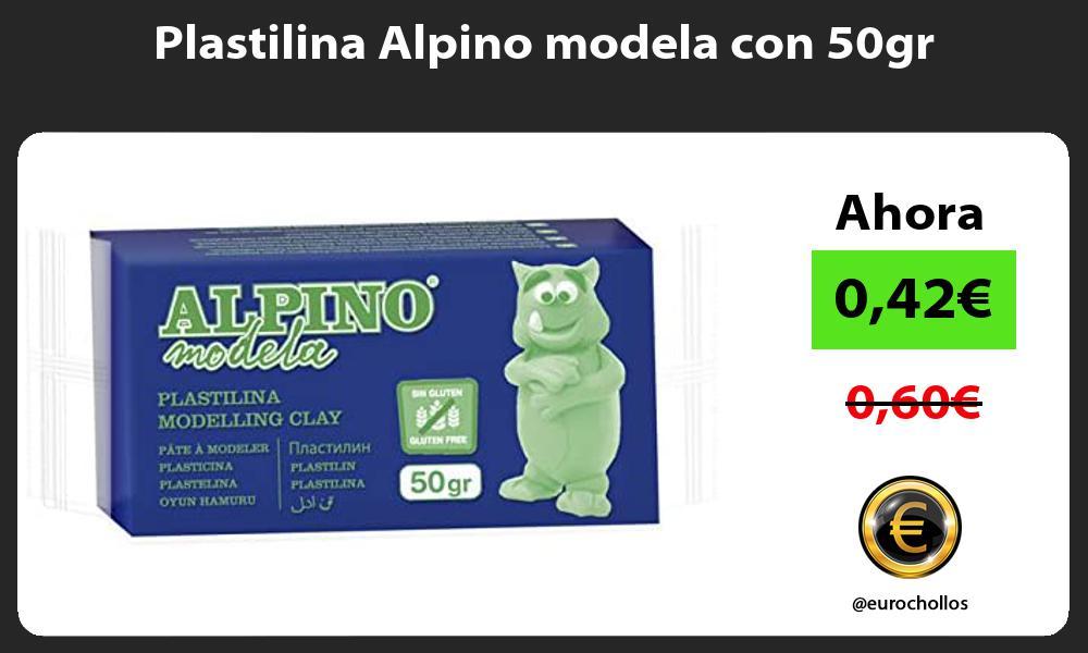 Plastilina Alpino modela con 50gr