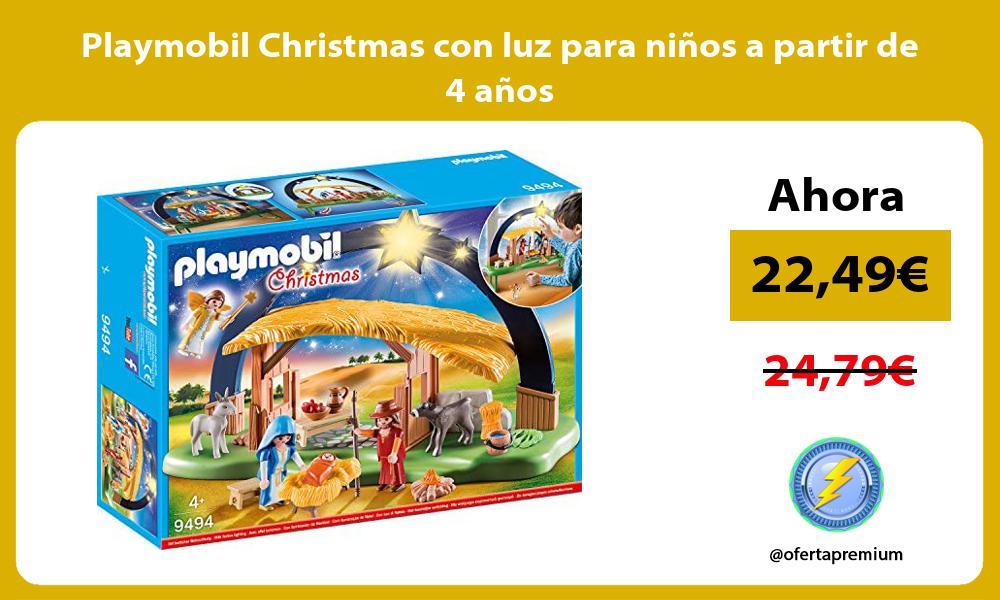 Playmobil Christmas con luz para niños a partir de 4 años