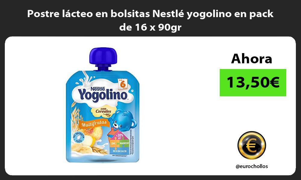 Postre lácteo en bolsitas Nestlé yogolino en pack de 16 x 90gr