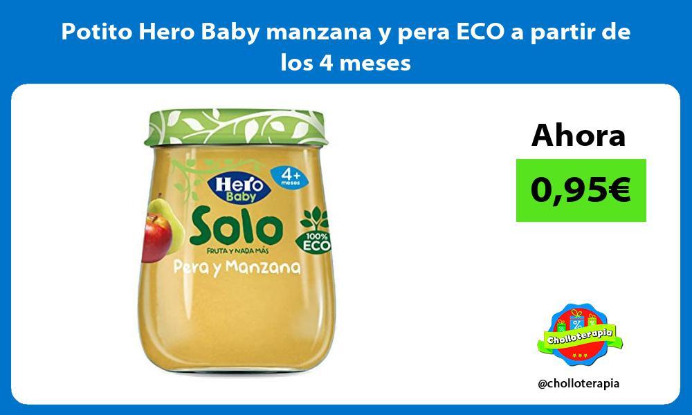 Potito Hero Baby manzana y pera ECO a partir de los 4 meses