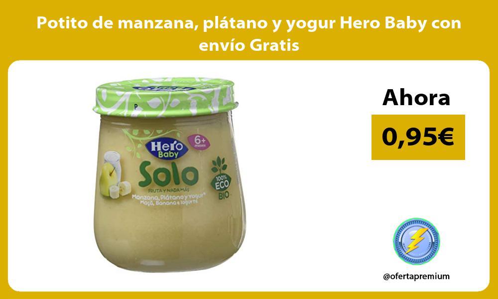 Potito de manzana plátano y yogur Hero Baby con envío Gratis