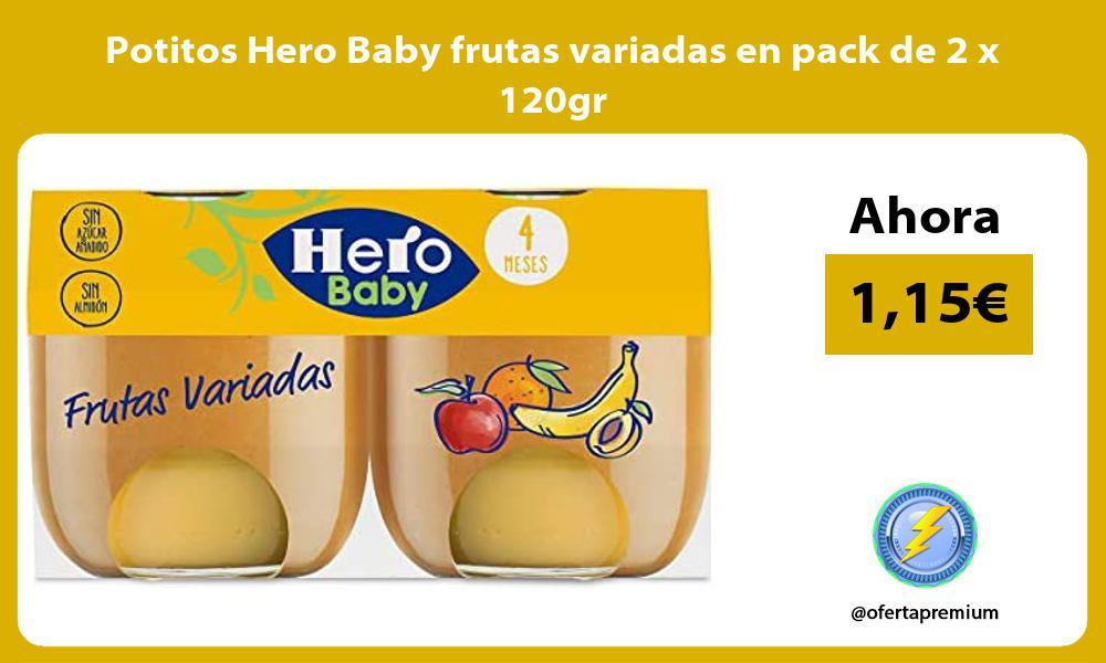 Potitos Hero Baby frutas variadas en pack de 2 x 120gr