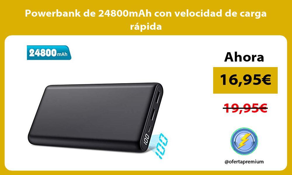 Powerbank de 24800mAh con velocidad de carga rápida