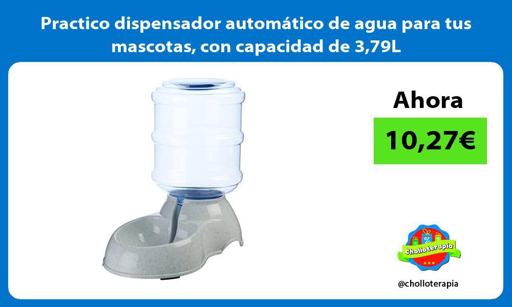Practico dispensador automático de agua para tus mascotas con capacidad de 379L