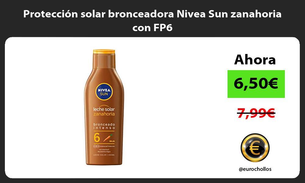 Protección solar bronceadora Nivea Sun zanahoria con FP6