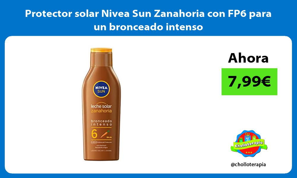 Protector solar Nivea Sun Zanahoria con FP6 para un bronceado intenso