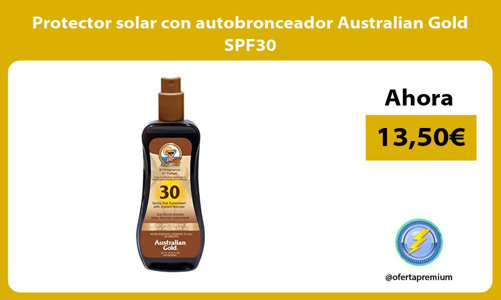 Protector solar con autobronceador Australian Gold SPF30