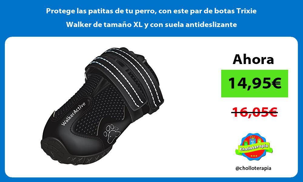 Protege las patitas de tu perro con este par de botas Trixie Walker de tamaño XL y con suela antideslizante