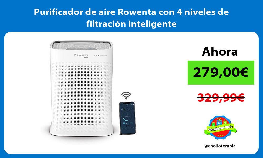 Purificador de aire Rowenta con 4 niveles de filtración inteligente