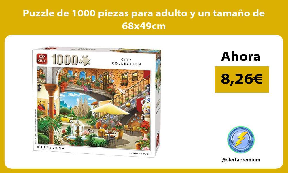 Puzzle de 1000 piezas para adulto y un tamaño de 68x49cm
