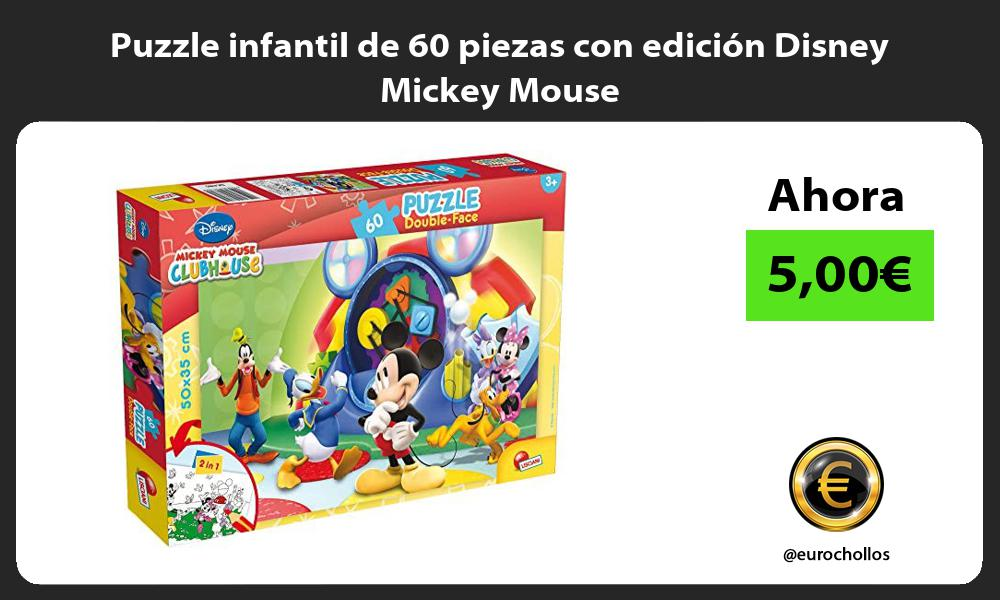 Puzzle infantil de 60 piezas con edición Disney Mickey Mouse