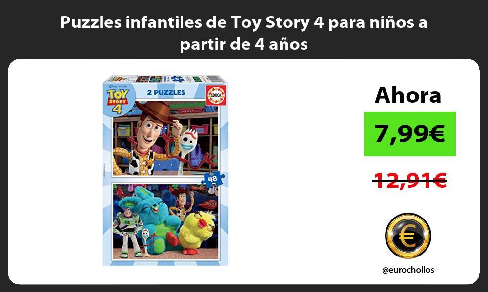 Puzzles infantiles de Toy Story 4 para niños a partir de 4 años