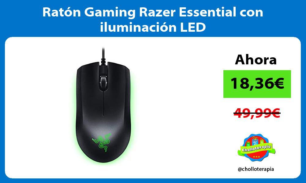 Ratón Gaming Razer Essential con iluminación LED