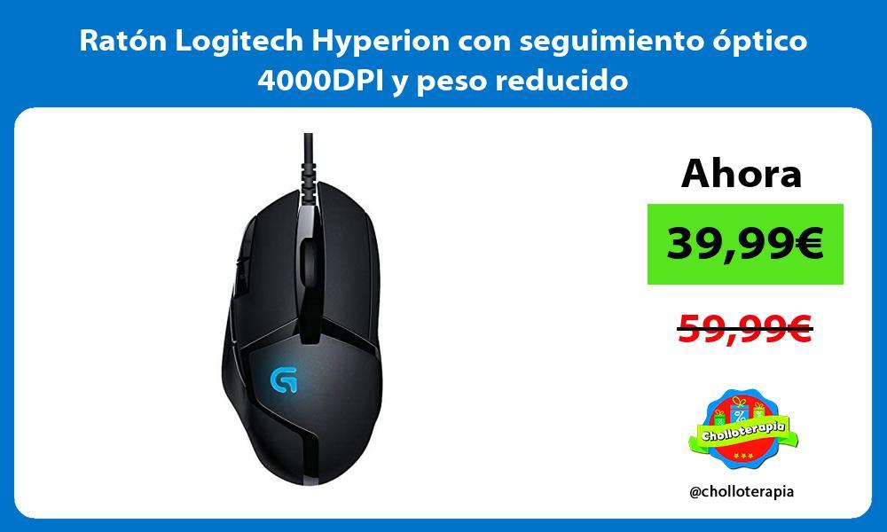 Ratón Logitech Hyperion con seguimiento óptico 4000DPI y peso reducido