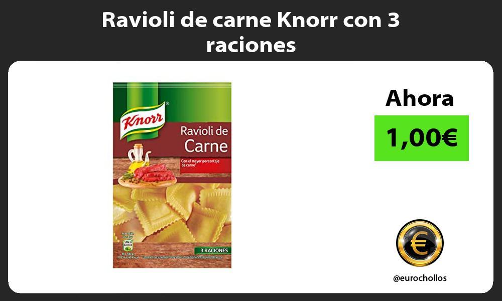Ravioli de carne Knorr con 3 raciones